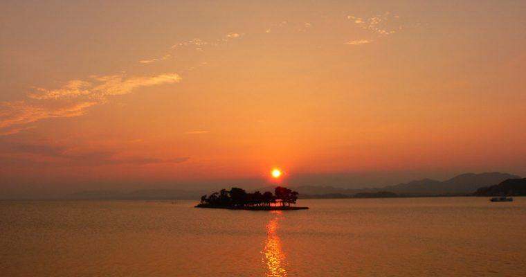 宍道湖の夕陽